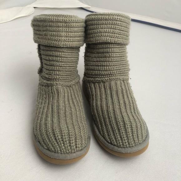 ugg shoes 5833 sage green classic cardy crochet boots poshmark rh poshmark com